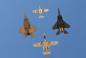 Heritage Flight Edwards by AirshowDave