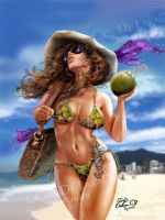Ipanema's Girl by CrisDelaraArt
