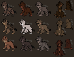 Male Cub Adopt set 2 *Open* by Evertooth