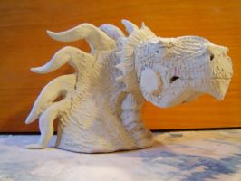 White Clay  Dragon by Muddy-On-Fire