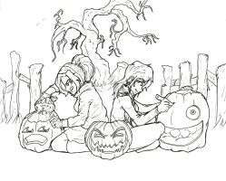 An other halloween lineart. by Doggy-Yasha