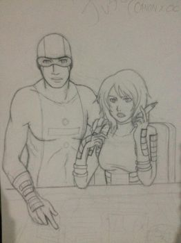 Young Justice Version of Billy Numerous and Maria by Danisauri
