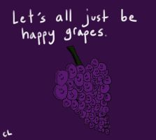 Happy Grapes by GlitterNugget