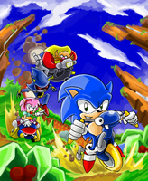 Sonic CD Riders by gsilverfish