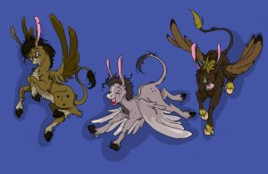 Three Flying Donkeys by TheMushman