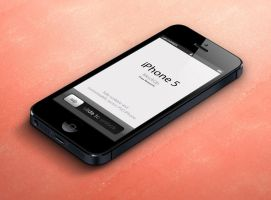 Free 3D View iPhone 5 Psd Vector Mockup by Pixeden
