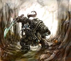WoW - Pandaren Death Knight by atryl