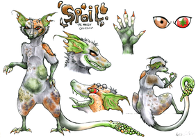 Spoil Character Sheet and Fursuit Design by CuriousCreatures