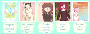 paypal commission prices! OPEN by gwiiyomi