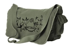 Kitsune Udon Messenger Bag by gesshoku-designs