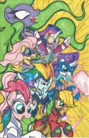Power Ponies Print by PonyGoddess