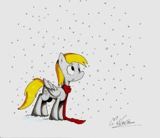 Derpy in the Snow by MrVava63
