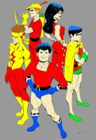 Old School Teen Titans By Misterhardtimes(color) by SmokeyandtheBandit
