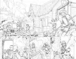 Slash and Burn Double page spread by Max-Dunbar