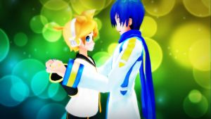 [MMD] Kaito X Len by Snorlaxin