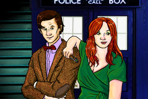 My friend and The Doctor by TheBluekulele