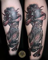 bloody devil baphomet tattoo by 2Face-Tattoo