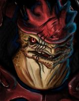 Best Soldier on the Normandy - Wrex Speedpaint by songe-creux