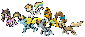 Ponies comin through by BakaMichi