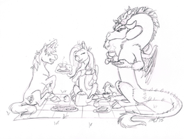 Commission - (Un)Invited Guest by CarnivorousCaribou