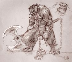 Old School Inujin Rough by Shima-Games