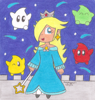 Rosalina and Lumas by MarioSimpson1