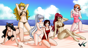 Commission: RWBY Bikini by jadenkaiba