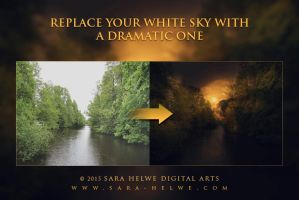 Replace your white sky with a dramatic one by sara-hel