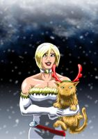 Power Girl - At Christmas... by adamantis