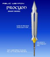 Relic Sword: Procyon by AdmiralTigerclaw