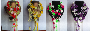 Floristic necklace by eva-crochet