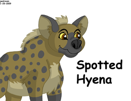 Spotted Hyena by JwalsShop