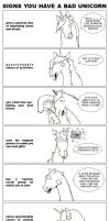 signs you have a bad unicorn by sketcherjak