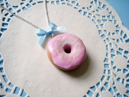 Sparkly donut necklace II by LittleMissDelicious