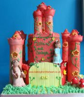 Pink Castle cake by 0970jackie