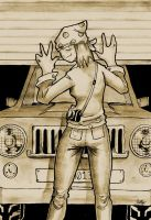 Jarvy And Her Jeep by TierraL