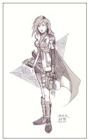 Warm Up - Lightning: FF13 by MichaelCrichlow