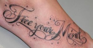 Signature letter 001 Tattoo by 2Face-Tattoo