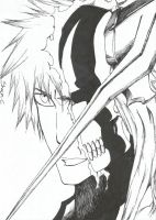 Bleach - Half Vasto Lordes Ichigo by NeXusShawn