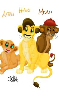 Kovu and Kiara's Cubs by Louis-Robinson