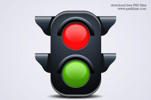 Traffic Light Icon by psdblast