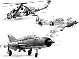 Aircraft Drawings 1 by MakmunBaban