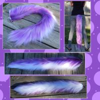 COMMISSION - 30 inch Yarn Tail for Kevin by Black-Heart-Always