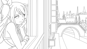Lineart - Waiting for you by TerryStarlox