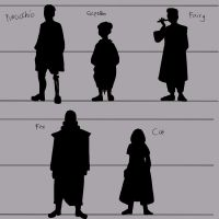Character concept silhouettes by Minya40