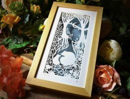 Serenity - Original Papercut by PaperPandaCuts