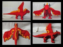 Fire Dragon Plushie by LeoEyes