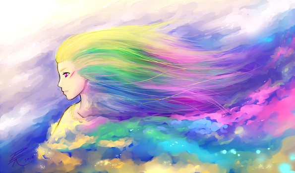 Goddess of color by Toivoshi