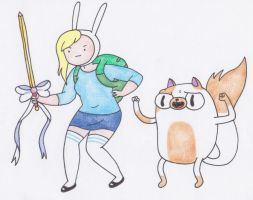 Fionna and Cake by sophiemai