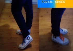 My portal shoes by bloodwolf8